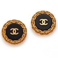 WGACA Vintage Vintage Chanel Edge Earrings | SHOPBOP