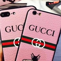 GUCCI Bee iPhone Phone Cover Case For iphone 6 6s 6plus 6s-plus 7 7plus 8 8plus iPhone X XS XS MAX XR