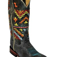 Ferrini Boots~ Ladies Teal Aztec Cowgirl Boots