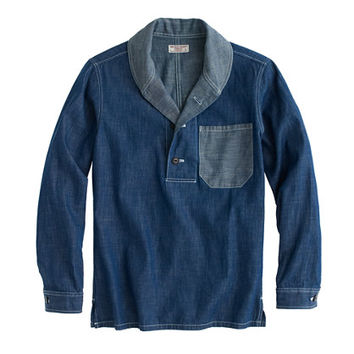 J.Crew Mens Wallace & Barnes Shawl-Collar Popover Shirt