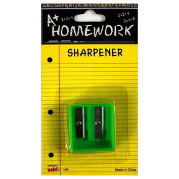 Dual Hole Metal Blade Pencil Sharpener