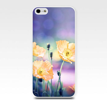 floral iphone case iphone 5s iphone 4s case flower photography fine art iphone case botanical yellow purple poppy case iphone 4 case 5