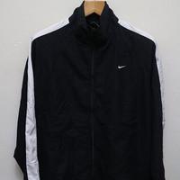 25% OFF Vintage NIKE Zipper Jacket Windbreaker Black Size XL