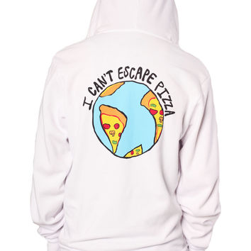 I Can't Escape Pizza Zip Hoodie