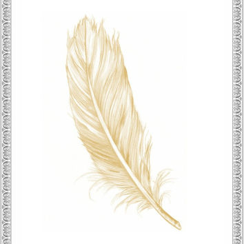 Feather Wall Art - Printable - Instant Download - Art - Home Decor - Office - Prints
