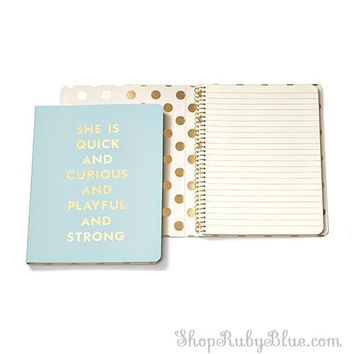 "Kate Spade Spiral Notebook ""Quick & Curious"""