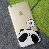 Love Panda Case Ultrathin Cover for iPhone 5 6 6s Plus
