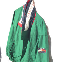 90's TOMMY HILFIGER JACKET with Hood Made in Bulgaria Size Small