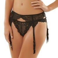 Jezebel Caress Too Lace Garter Belt 40533 - Women's, Size: