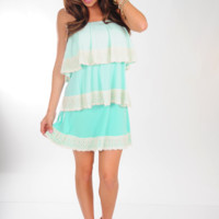 JUDITH MARCH: Layer It On Me Dress: Light Blue