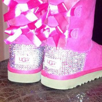 DCCK8X2 Youth Swarovski crystal Ugg Boots