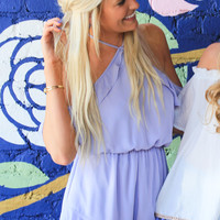 For the Frill Of It Lilac Romper