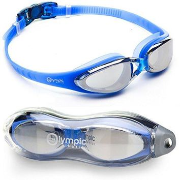 Olympic Nation Crystal Clear Comfortable Swimming Goggles with Anti-Fog