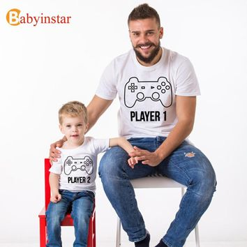 Babyinstar PLAYER 1 (THE ORIGINAL) & PLAYER 2 (THE REMIX) Matching T-shirts