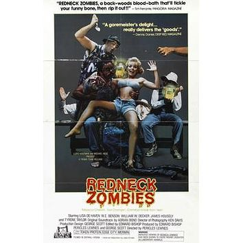 Redneck Zombies Movie poster Metal Sign Wall Art 8in x 12in