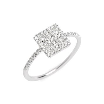 Bony Levy Amara Diamond Square Ring | Nordstrom
