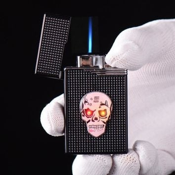 Creative Luminous Skull Head Cigarette Lighter