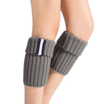 [16396] Side Striped Knit Boot Cuffs