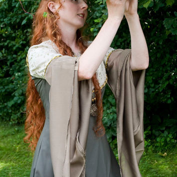 CUSTOM Forest Maiden Fantasy Medieval Elven Narnian Dress Gown