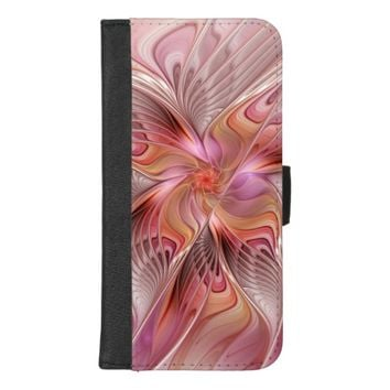 Abstract Butterfly Colorful Fantasy Fractal Art iPhone 8/7 Plus Wallet Case