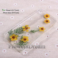 Pressed Flower iphone 6 case, iphone 6 plus, iPhone 5 case, iphone 5s case, iPhone 5c case, iPhone 4s case, Real Flowers-069