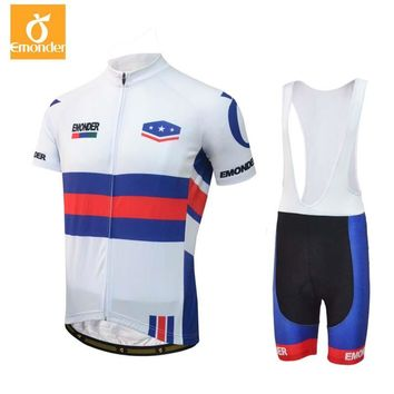 Summer Men's COOLMAX+UNITED STATES POSTAL SERVICE Cycling Jersey bib short Mountain bike clothes set Quick Dry Breathable