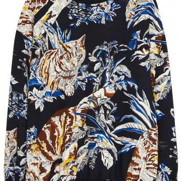 Stella McCartney Ines cat-print stretch cady top