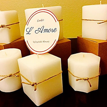 16oz White  Pillar Candle. perfect for any occasion.