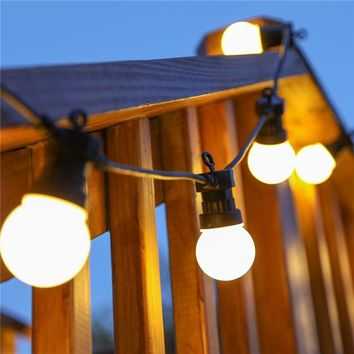 10M Globe String Light with 20 Clear Milky bulbs Connectable Vintage Festoon ball string Light Christmas fairy light for Patio