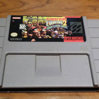 Donkey Kong country 2 Diddy kongs  quest super Nintendo game, donkey Kong country 2 snes, dkc2 snes game