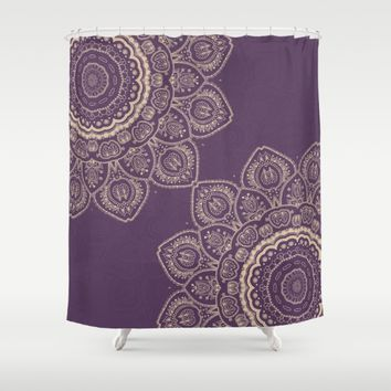 Lavender Tulips Shower Curtain by Lena Photo Art