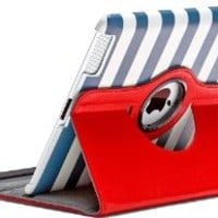 Aduro ROTATA CABANA Pattern 360 Degrees Rotating Stand Case for Apple iPad 2, iPad 3 and iPad 4th Generation (Retail Packaging)