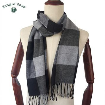 Winter Scarf 2018 Cashmere Scarf Plaid Blanket Scarf New Designer men wool plaid bandana Scarves and Wraps WJ21