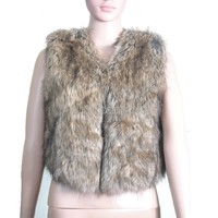 New Lady Fashion Winter Womens Faux Fur Vest Sleeveless Coat Tops Waistcoat
