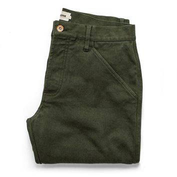 Taylor Stitch - The Camp in Heather Olive Twill Pants