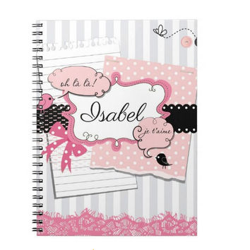 Ooh La La Paris Personalized Notebook