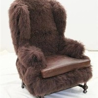 Cave man chair. Unique high style furniture.
