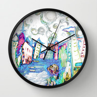 Whimsy Wonderful White Wonderland Wall Clock by RokinRonda