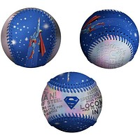 Superman Silvery Collectible Embossed Baseball