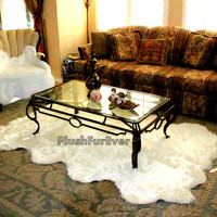 5' x 8' Octo eight pelts sheepskin lampskin luxury faux fur shag shaggy fake fur flokati modern area living room rugs