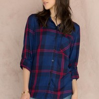 Missoula Plaid Buttoned Blouse