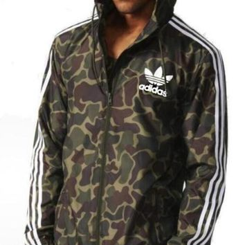 """Adidas"" Men Women Trending Casual Camouflage Print Zip Cardigan Jacket Coat Sweatshirt Hoodie"