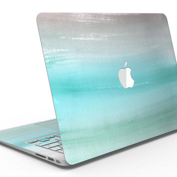 Lined Mint 9672 Absorbed Watercolor Texture - MacBook Air Skin Kit