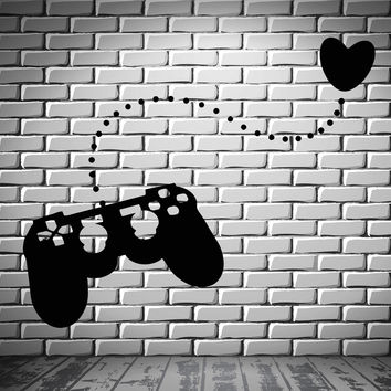 Joystick Wall Stickers Gamer Play Room Video Games Teen Vinyl Decal (ig2481)