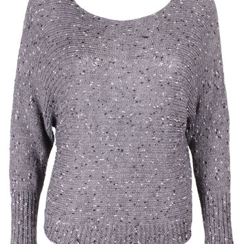 Grey Speckled Knit Jumper