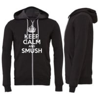 Keep Calm and Smush Zipper Hoodie