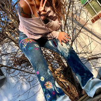 Funky Floral Jeans 7