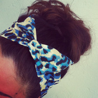 Leopard Print Dolly Bow Headband by Eindre on Etsy