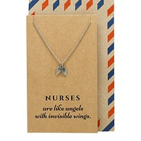 Alyana Nurse Jewelry with Angel Wings Pendant