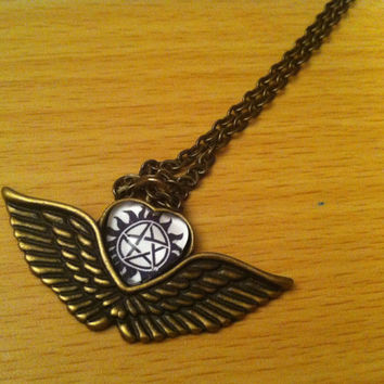 Demon Protection - Castiel - Supernatural Inspired - Necklace